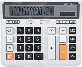 $34 » FMXQYH Desk Calculator, Big Buttons Easy to Press Used As Office Calculators for Desk, 12 Digit Calculators Large Display ...