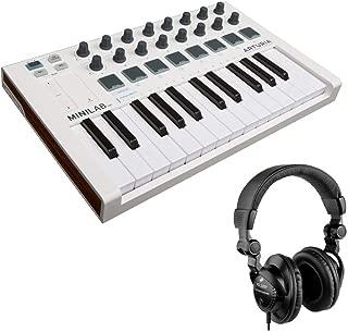 Arturia MiniLab Mk II Portable USB-MIDI Controller with HPC-A30 Closed-Back Studio Monitor Headphones Bundle