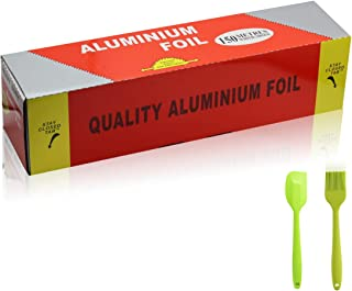 Aluminum Foil Roll 18 Micron-Thick Wrap 11.8 inches x 500 ft (500 Square Feet Roll), BBQ foil Rolls for Grilling, Roasting...