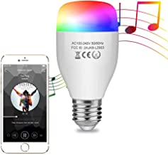 Aigital Smart LED Bulb,WiFi Light Bulb Color Changing Bulbs Dimmable Night Lamp Smart Light Bulb Music Mode Compatible with Amazon Alexa (Easy Setup, Group Control, Remote Control, No Hub Required)