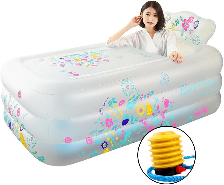 Badewanne Aufblasbare Badewanne, Faltbadewanne Mit Rückenkissen, Umweltschutz PVC     Wei 160  90  52cm