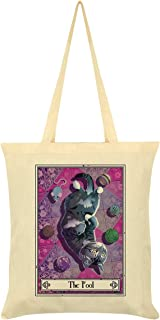 Deadly Tarot Felis - The Fool Tote Bag Cream 38 x 42cm