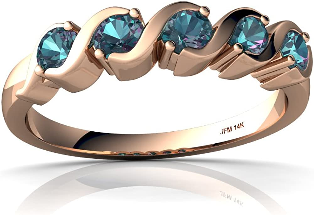 14kt Gold Lab Alexandrite 3mm Band Ring Round Max 4 years warranty 55% OFF Anniversary