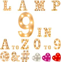 T Light Up Letters White Plastic 3D LED Marquee Alphatbet Light Up Letter Light Sign for Home Wedding Anniversary Party Bar Birthday Graduation of 2019 BALLOON (T)