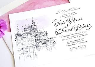 fairytale inspired wedding invitations