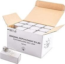 Betus [Original Replacement] Long Lasting 15 Watt Dimmable E12 Socket Incandescent Candelabra Salt Lamp Bulb - Value Pack of 12