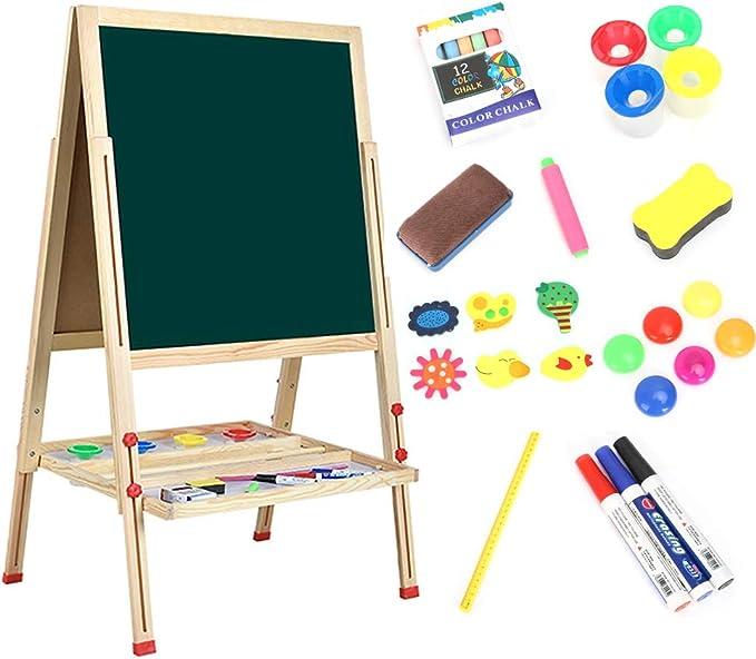 398 opinioni per Dripex Lavagna in legno di pino per bambini, 49 x 49 cm, dipinta, regolabile in