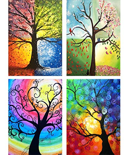 2 Pack 5D Full Drill Diamond Painting Kit Mikimiqi DIY Diamond Rhinestone Painting Kits for Adults and Beginner Embroidery Arts Craft Home Decor Music and Love 15.8 X 11.8 Inch