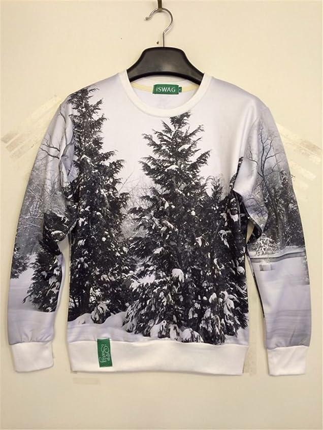 反発人柄閲覧するUnisex 3D Print Galaxy Animal hipster sweater sweatshirt Pullover(tree)
