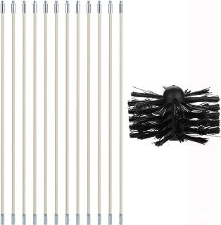10 M avec des Tiges Flexibles en Nylon Renforc/é-B 10 Pi/èces APQMR Kit De Ramonage Cheminee Kits DOutils De Nettoyage De Balayage DEntra/înement De Brosse De Chemin/ée De 8 M