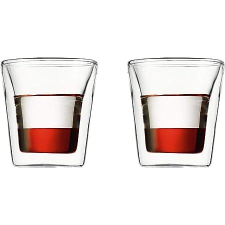 Set of 2 Bodum Canteen Double Wall Espresso//Shot Glass