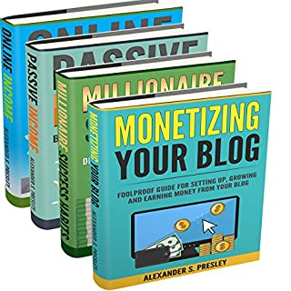 Financial Freedom: Online Income, Passive Income, Millionaire Success Habits, Monetizing Your Blog audiobook cover art