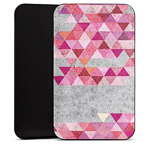 Cover kompatibel mit Wiko Barry Hülle Tasche Sleeve Socke Schutzhülle Triangles Dreiecke Hipster
