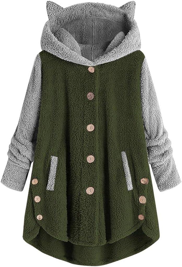 Women Cat Fleece Coat kawaii Pullover shop L Hoodies Oversize Credence Ear