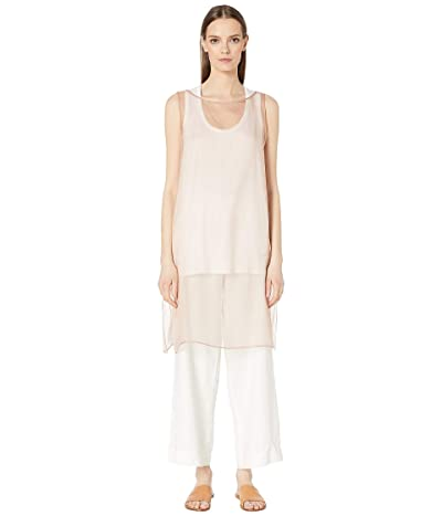 Eileen Fisher Bateau Neck Dress (Toffee Cream) Women