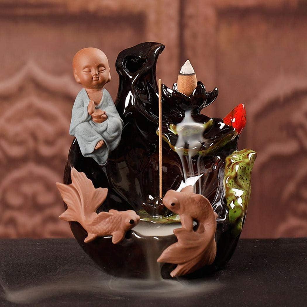 jessie Peaceful Chicago Mall Buddha Shape Burner Meditation Ceramic Backflow online shop