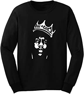Mens Biggie Smalls Notorious B.I.G. Crown Long Sleeve T-Shirts Men Tee