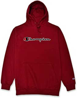Mens Big and Tall Hoodie Sweatshirt with Embroidered Script Logo