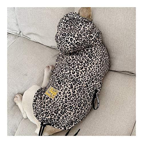 wasserdichte Hundekleidung Mode Haustier Hund Regenmantel Welpe Katze Hoodie Leopard Kleine Hundejacke Kleidung Heimtierbedarf Französische Bulldogge (Color : B715, Size : XXL)