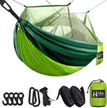 Hieha Double & Single Camping Hammock with Mosquito Net Tree Hammocks, Portable Travel Hiking Outdoor Hammock for Camping,...