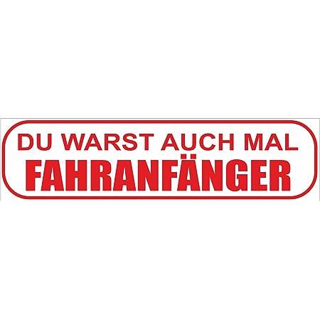 Indigos Ug Magnetschild Du Warst Auch Mal Anfänger Magnetfolie Für S Auto Oder Fahrschule 30x8 Cm Rot Auto