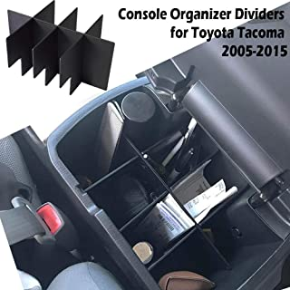 EDBETOS Center Console Organizer Insert Dividers for Toyota Tacoma 2005-2015 2nd Gen Tacoma Accessories Armrest Box Second...