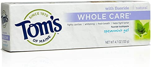 Tom's of Maine Whole Care Toothpaste Spearmint, Spearmint 4.7 oz (Pack of 3)