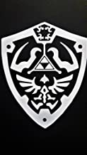 Legend Of Zelda Inspired Hylian Shield Vinyl Decal Sticker WHITE Cars Trucks Vans SUV Laptops Wall Art 5.5