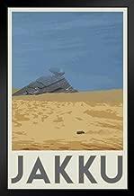 Jakku Outer Rim Territories Desert Planet Fantasy Travel Movie Poster - 12x18 Movie Fantasy Travel Framed in Black Wood 14x20 inch Black 168356