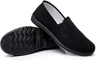 أحذية قماشية من المطاط بنعل مطاطي للجنسين باللون الأسود