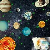 Fluorescente Decoración de Pared Uktunu Luminoso Pegatinas de Pared Planetas y Estrellas Brillante Fluorescente Adhesivos para Niños Hogar Kids Room Decor del Dormitorio 430pcs