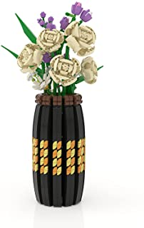 Vase for Lego Flower Bouquet 10280,40461 and 40460 Building Kit, A Unique Flower Container, Creative Project for Adults Bu...