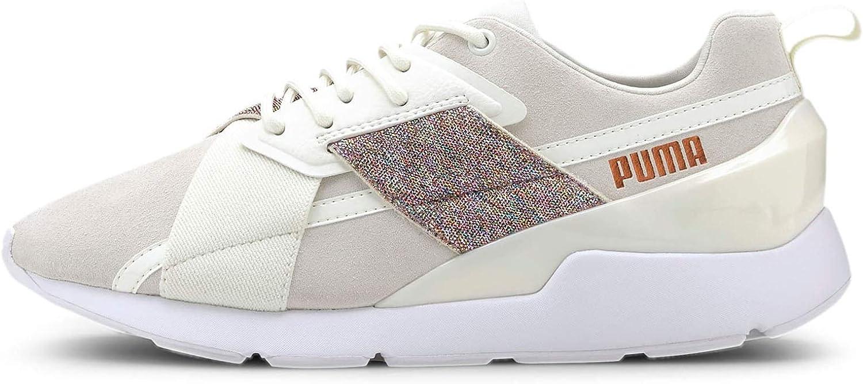 PUMA Women's Muse Sneaker, Marshmallow White, 8 M US