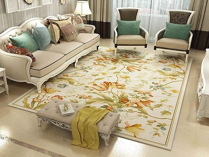 Blanket Laver et Passer l'aspirateur Tapis Maison de Style campagnard Simple et Moderne de Style campagnard Table Basse,1.2  1.6m,  13