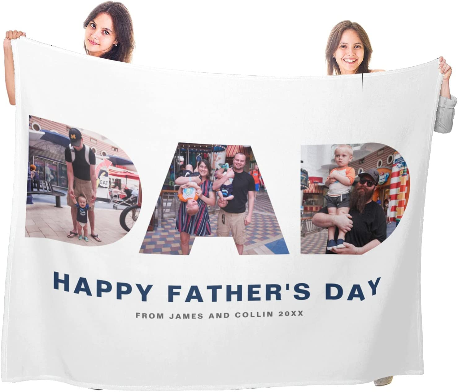 Fathers Day Blanket Customized Personalized price Photos with Recommendation