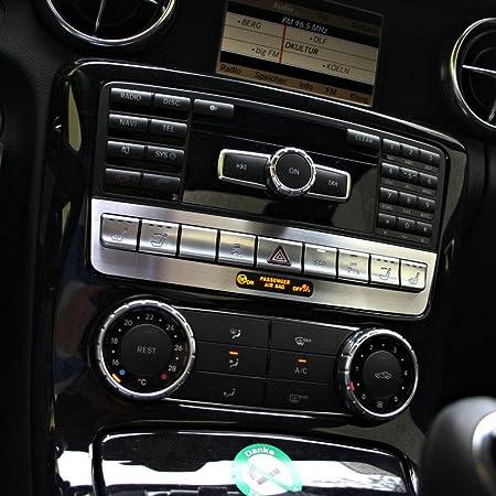Gxdd Auto Ac Vent Ordnungs Ring Aufkleber Gepasst For Mercedes Benz Slk R172 Slc Slk200 Slc250d Sl500 Amg Slc43 Klimaanlage Outlet Dekorieren Abdeckung Color Name Sl Slc Slk Red Auto