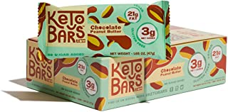Keto Bars! The Original High Fat, Low Carb, Ketogenic Bar. Gluten Free, Vegan, Homemade with simple ingredients. [Chocolate Peanut Butter, 10 Pack]