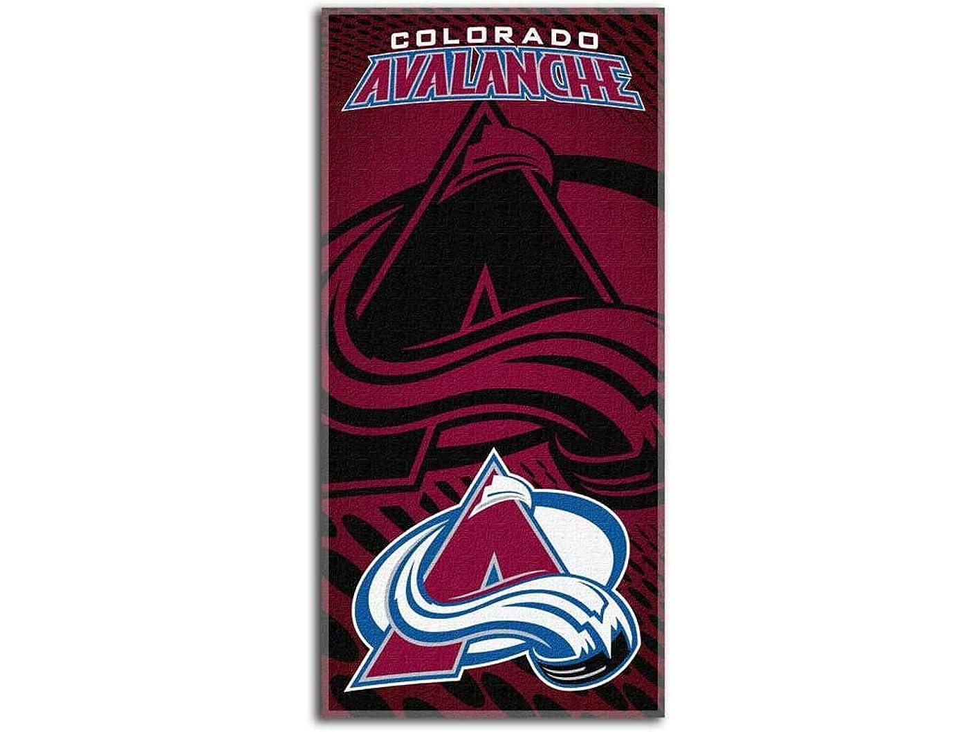 稚魚ムス比喩NHL Colorado Avalancheエンブレムビーチタオル、28?x 58-inches
