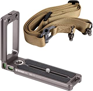 Camera Belt Strap 38mm Quick Release Plate Clamp Adapter with Neck Strap Mount for Arca-Swiss AS Standard Quick Release Plate Tripod Head Durable