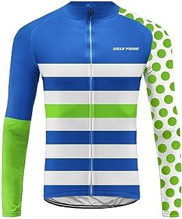 Pantaloni Lunghi da Ciclismo Imbottiti ZRML04 Invernale Maglie Ciclismo Maniche Lunga Uglyfrog Completo Abbigliamento Ciclismo da Uomo