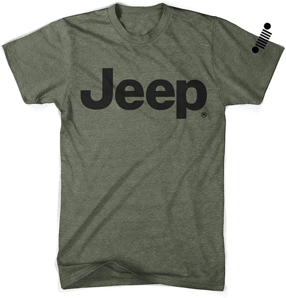 Detroit New Free Shipping Shirt Max 71% OFF Company Classic Jeep - Military Green Text T-Shirt
