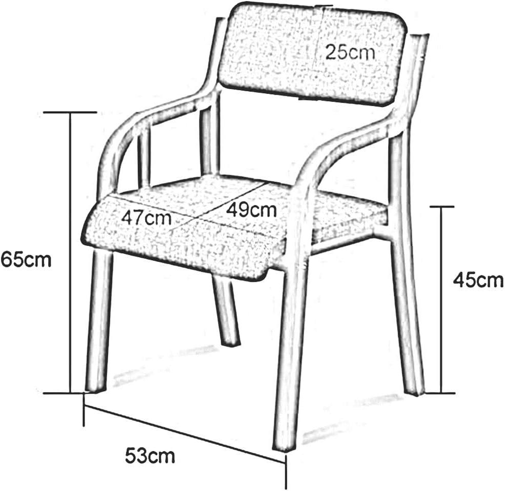 DALL Chaise De Salle À Manger Bois Massif Chaise De Table Support Arrière Les Fauteuils Chaise De Réception Décontractée Facile À Assembler (Color : T3) T5