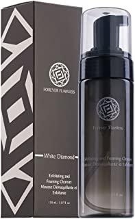 Forever Flawless Exfoliating and Foaming Face Cleanser and Makeup Remover with 100% Natural Diamond Powder, Deep Clean for Women and Mens Pores FF17, (150 ml)