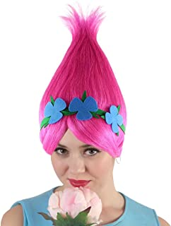 Halloween Party Online Princess Troll Wig, Pink HW-1079