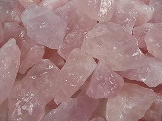 Fantasia Materials: 1 lb Rose Quartz AAA Grade Rough Stones from Brazil