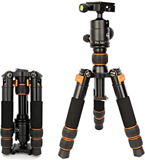 Koolehaoda Trípode portátil de viaje SL-166 con Cabeza de bola para cámara réflex digital (SL166 naranja)