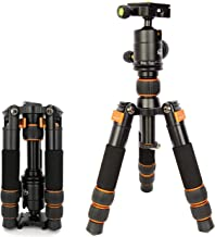 koolehaoda SL-166 Travel Portable Mini Tripod with Ball Head for DSLR Camera (SL-166 Mini triod) Orange