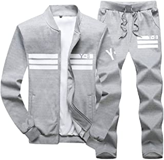 Lavnis Men's Casual Tracksuit Long Sleeve Running Jogging Athletic Sports Set
