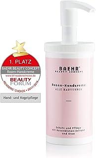 Baehr Rosen Handcreme mit Rosenblütenextrakt und Urea, Schutz, und Pflege, 450ml mit Spender