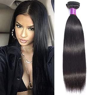 Brazilian 8A Straight Human Hair Bundles 100% Unprocessed Virgin Straight Human Hair Bundle Weave Natural Black Color So Soft No Smell (22